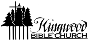 Logo with Trees and Cross Above Trees for Kingwood Bible Church in West Salem, Oregon