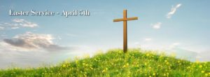 Picture of Cross on Hill with Yellow Flowers in Front
