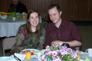 The Youth Pastor and His Wife at the Easter Breakfast