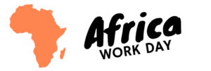 Outline of Africa with Africa Work Day Text