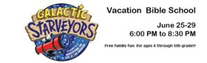 Galactic Starveyors logo with text details about VBS.
