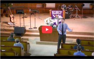 Capture of Youtube Video of Nathan Preaching at Kingwood