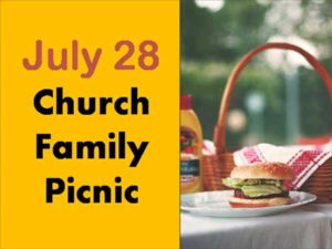 Banner for Church Family BBQ