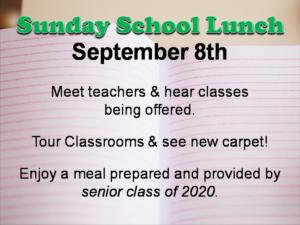 sunday school lunch text