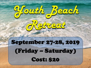 youth beach retreat text