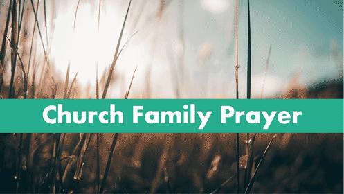 Church Family Prayer Meeing Banner