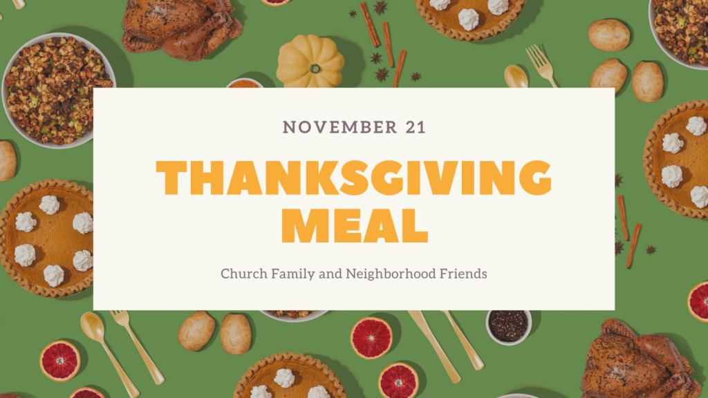 Thanksgiving Meal Kingwood Bible